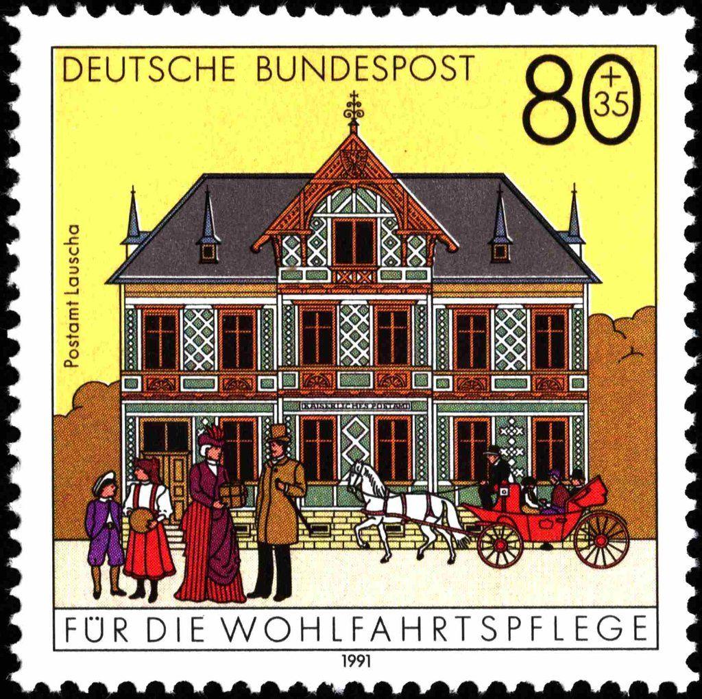 Deutschland 1991 Post Office Lauscha (Wohlfahrt
