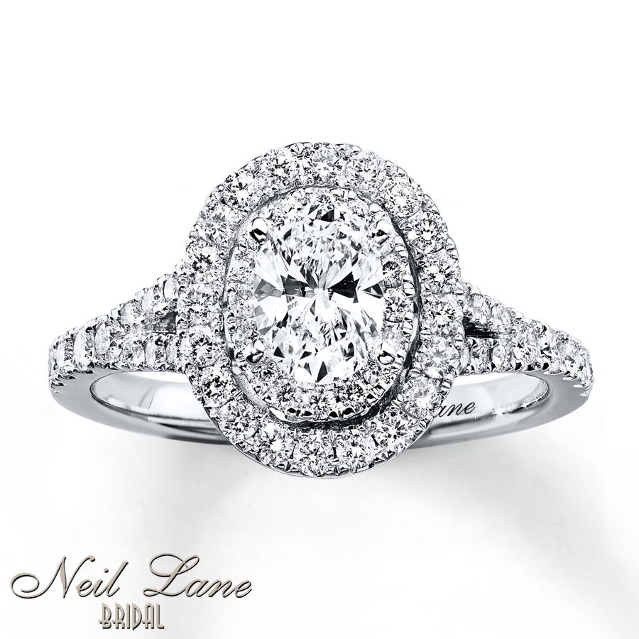 neil lane engagement ring 1 ct tw diamonds 14k white gold - Neil Lane Wedding Ring