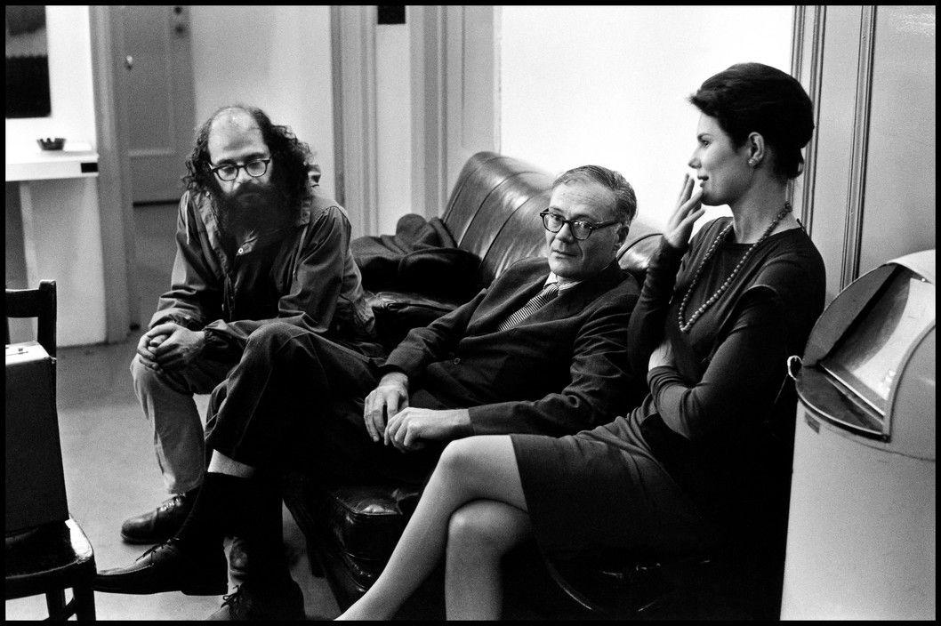 Elliott Erwitt -  USA. 1966. Alan Ginsberg.
