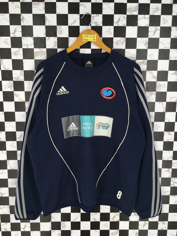 ADIDAS Training Wear Blue Vintage Adidas Three Stripes