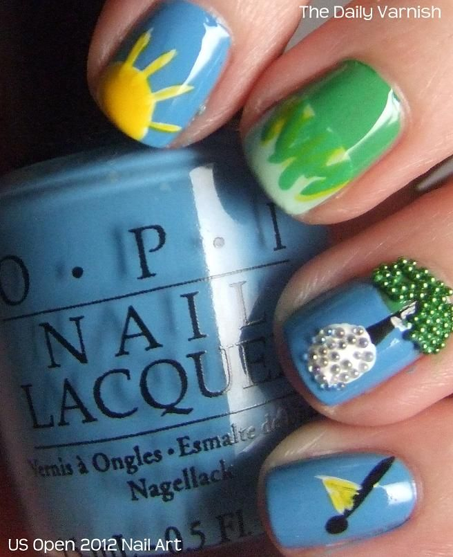 Golf Nail Art Too Much Fun Love The Base Colour Too Re Pinned By