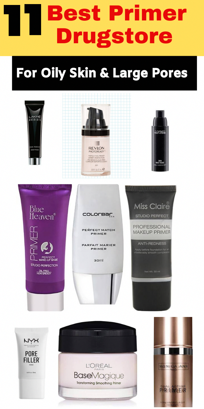 11 Best Primer drugstore for oily skin and Large Pores