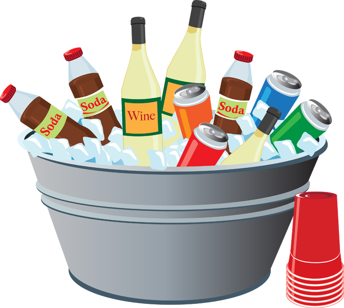 Grab This Free Summer Clipart And Celebrate Drinks In A Tub For The Picnic