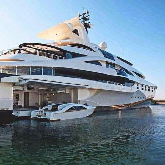 Incredible Mega Yacht With Boat Garage Noscopublishing Com Luxury Sailing Yachts Luxury Yachts Boats Luxury