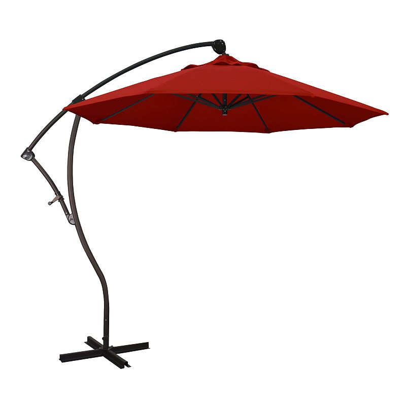6ea752810 California Umbrella 9' Bayside Series Pacifica Cantilever Patio Umbrella  With Bronze Aluminum Pole A
