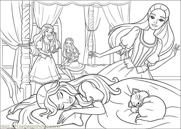 Barbie and the three Musketeers Coloring page- DinoKids.org   428x600
