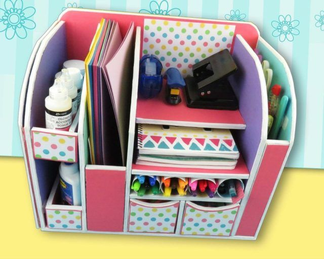 Diy Beautiful Desk Organizer From Cardboard Desk Organization