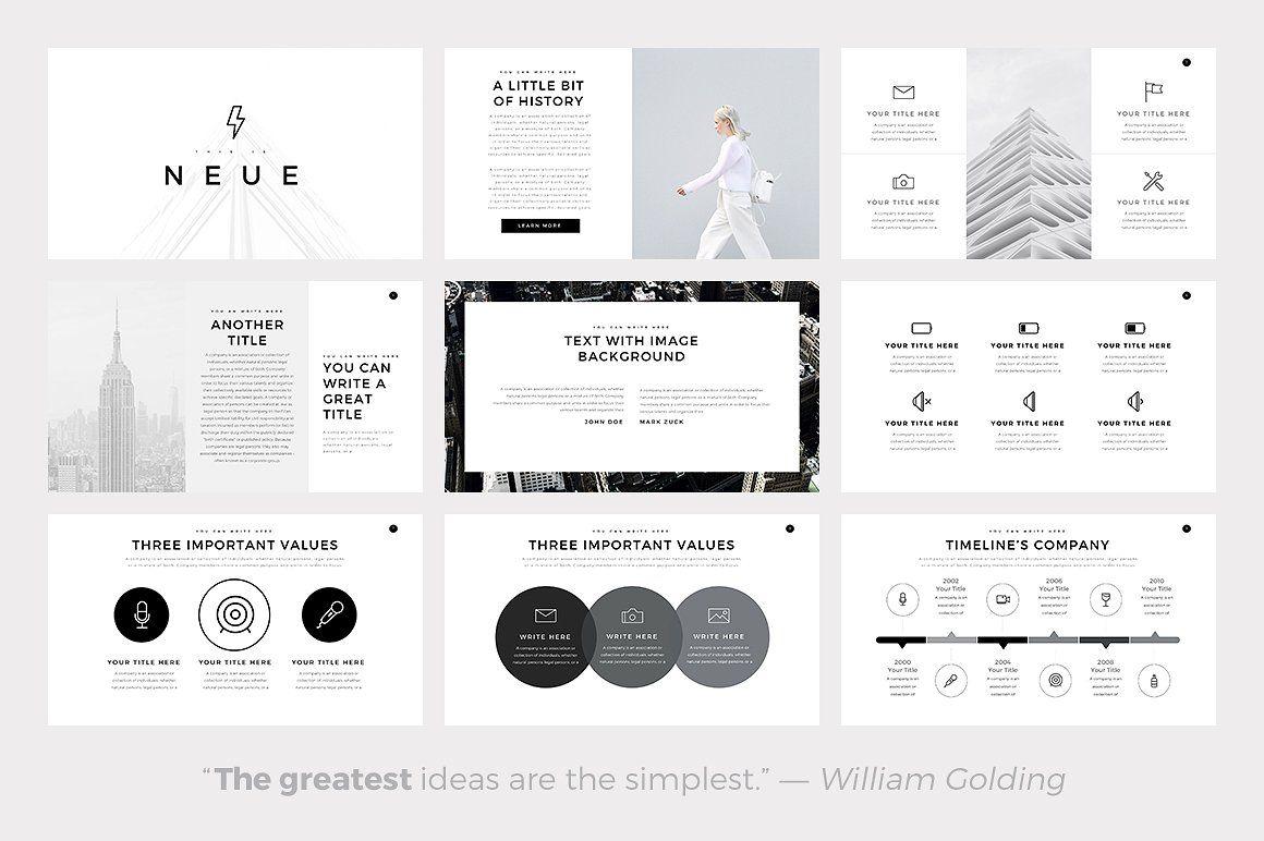 Presentation Templates Product Images ~ Neue Minimal Pow… ~ Creative ...