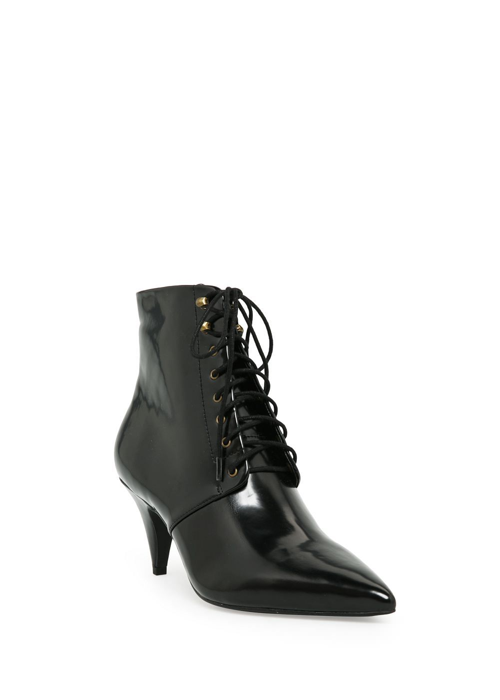 Heel Lace Up Ankle Boots Woman Mango Slovakia Womens Leather Ankle Boots Leather Boots Heels Boots