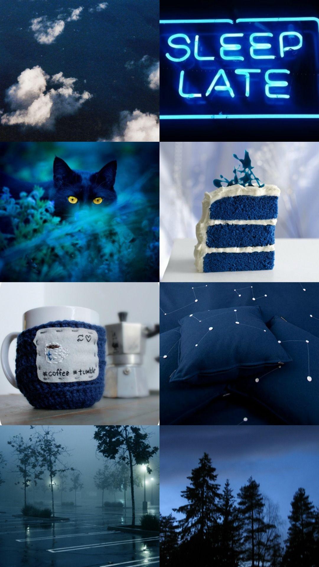 scorpio aesthetic blue caring, loving, sensitive Blue