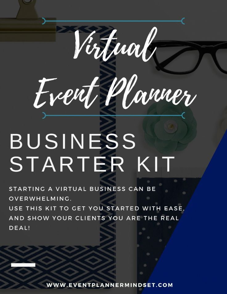 Get a Virtual Event Planner Business Kit and start booking