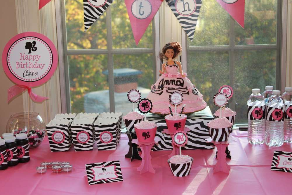 Vintage Barbie Silhouette Birthday party Birthday Party Ideas