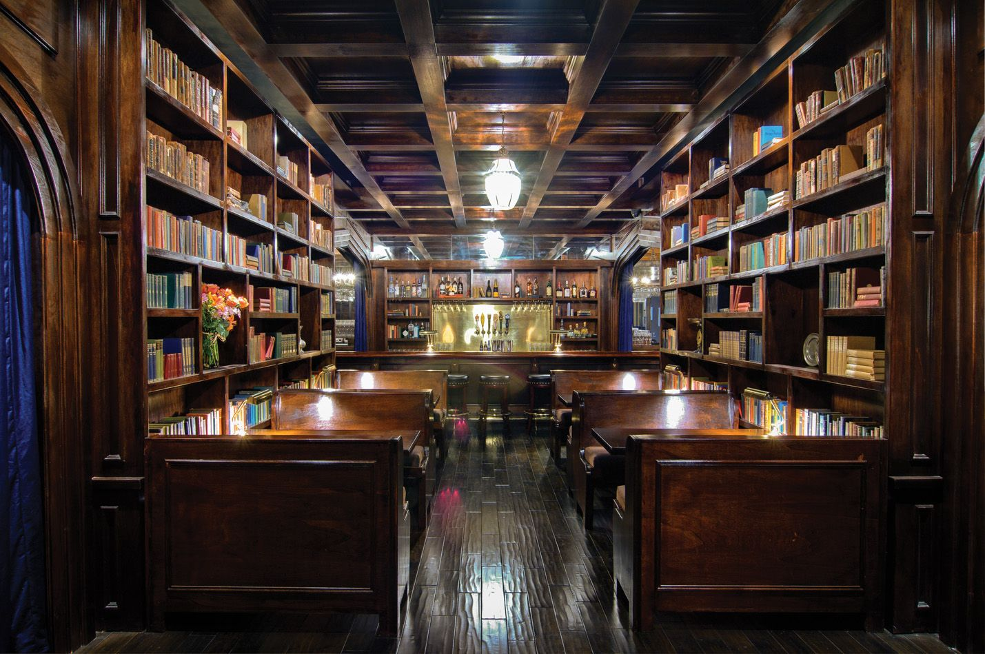 The Wellesbourne, gorgeous pub/library in West L.A.