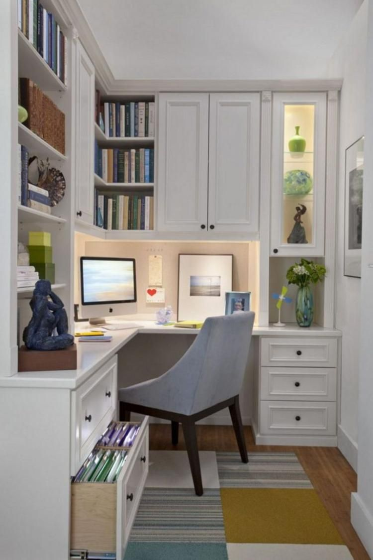 55+ Inspiring And Useful Home Office Cabinet Design Ideas | ALL ...