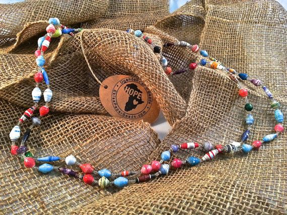 All proceeds fund education in Africa! Made from recycled, rolled, paper buy single women in Uganda only $10!