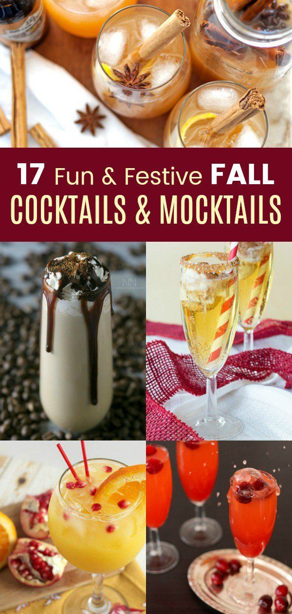 17 Fun and Festive Fall Cocktails and Mocktails #falldrinks