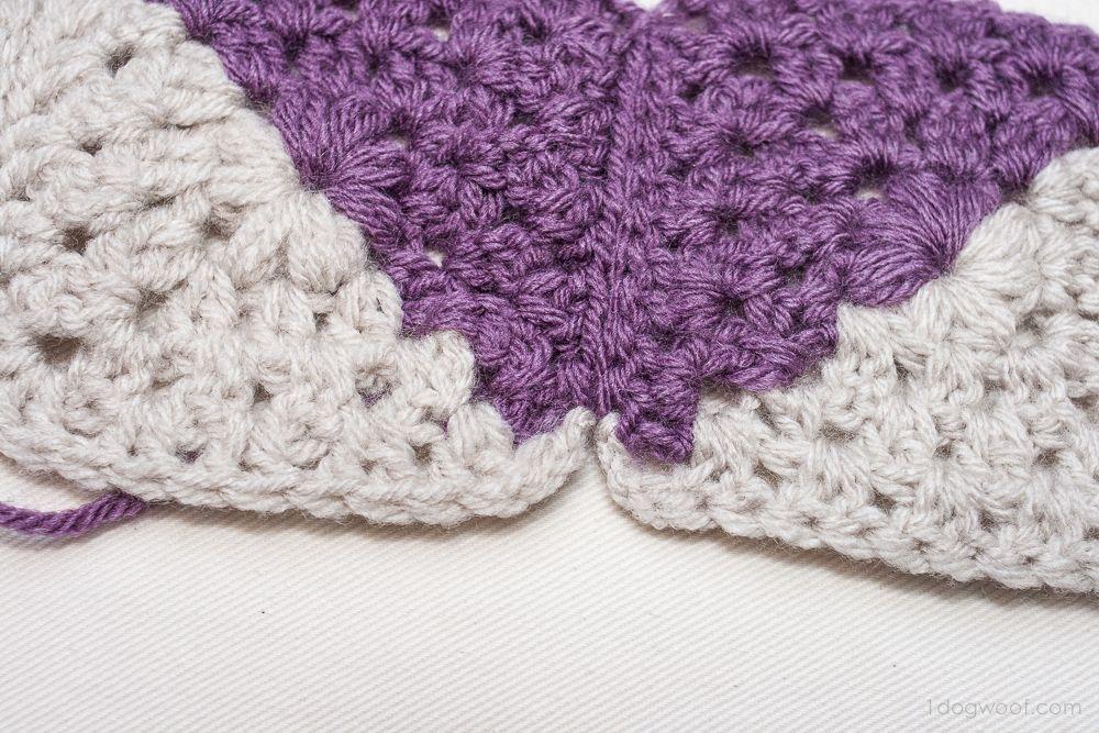 Granny Squares Chevron Afghan Crochet Pattern | Quadrate ...