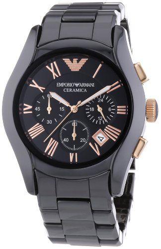 Emporio Armani Herren Armbanduhr Xl Chronograph Quarz Keramik Ar1410 Armani Uhren Armani Uhren Herren Uhrenmarken