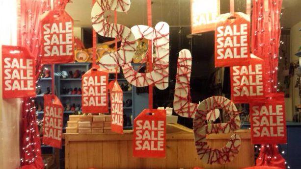 Sale window de Blauwe Ballon