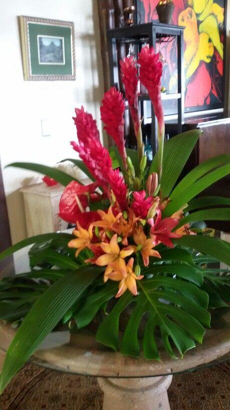 Flores tropicales flores hermosas arreg - Arreglos de flores artificiales ...