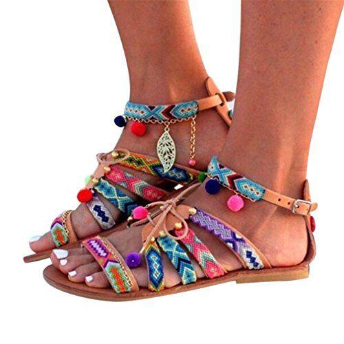 Chaussures Femme Talon Hiver,GongzhuMM Ete Sandales à la