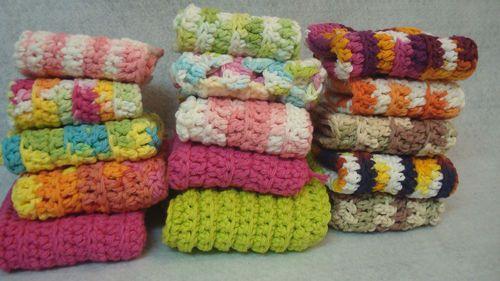 $19.95 Set of 15 handmade crochet cotton dishcloths