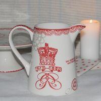 GreenGate Fay Red Stor Kande  *** Hos www.galleri-hebe.dk køber og sælger vi en hel del Greengate - en af de elskede produkter i vores shop :) Se et lille udvalg her - Find det aktuelle udvalg på www.galleri-Hebe.dk