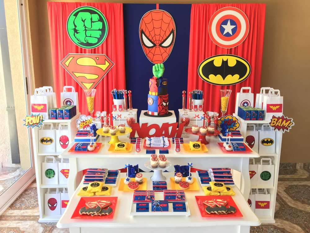Calling All Superheroes Party Planning Ideas Supplies Idea Cake