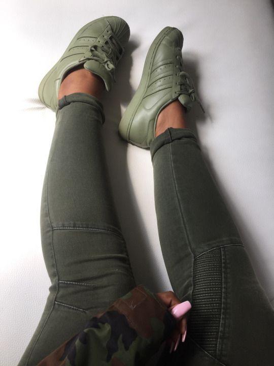 adidas superstar oliv khaki