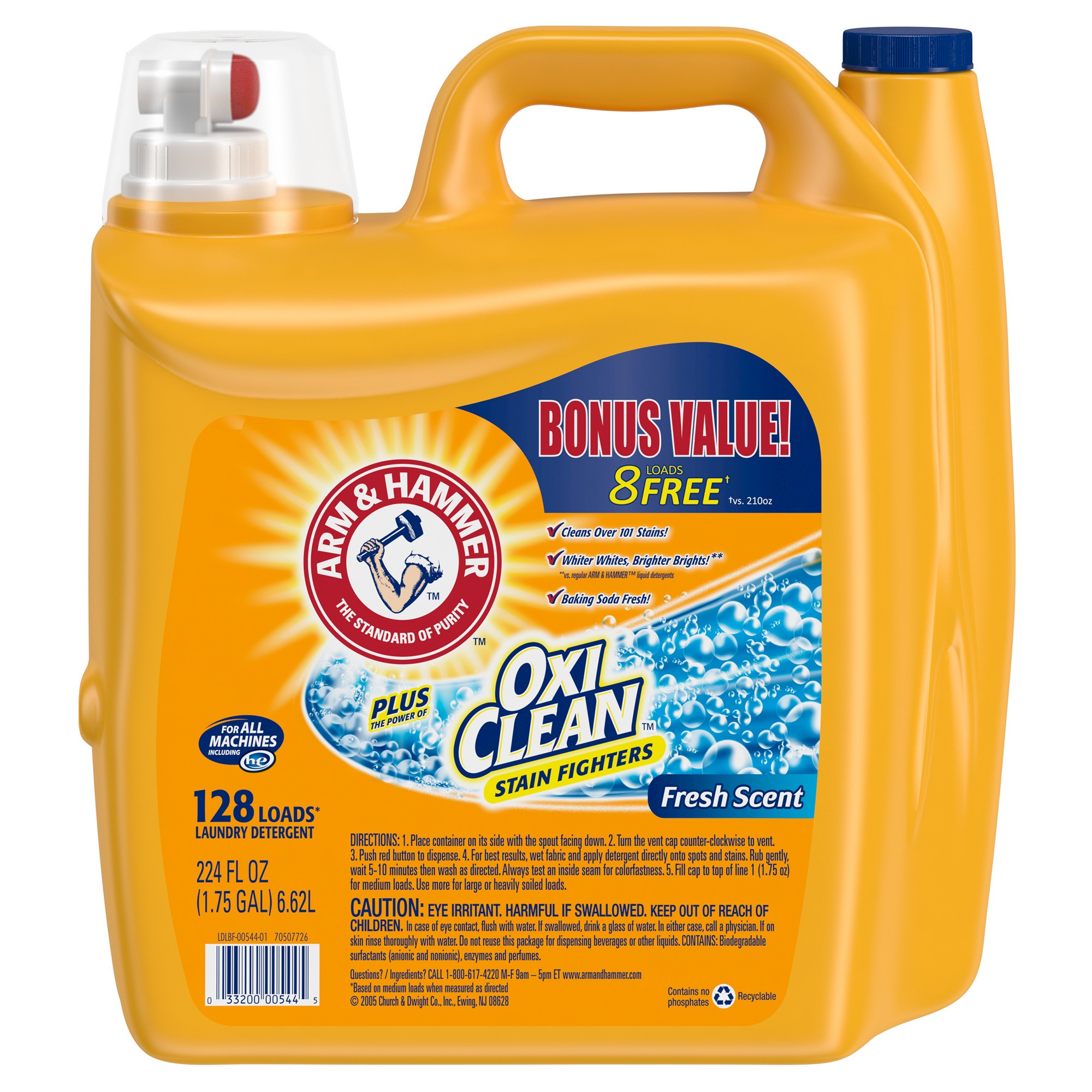 Arm Hammer Oxiclean Fresh Scent Liquid Laundry Detergent 224oz