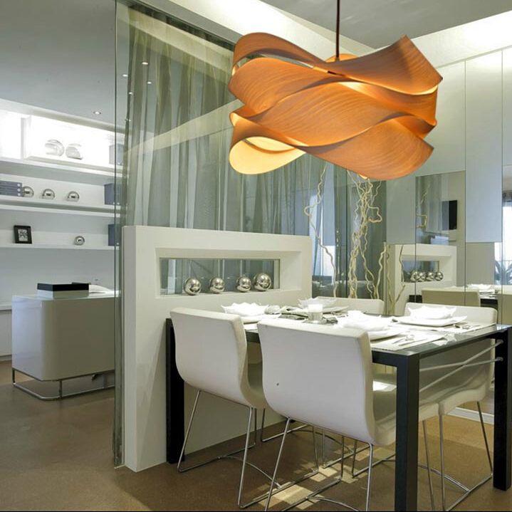 Chambre En Espagnol: Moderne En Bois Pendentif Lampe Par Designer Espagnol