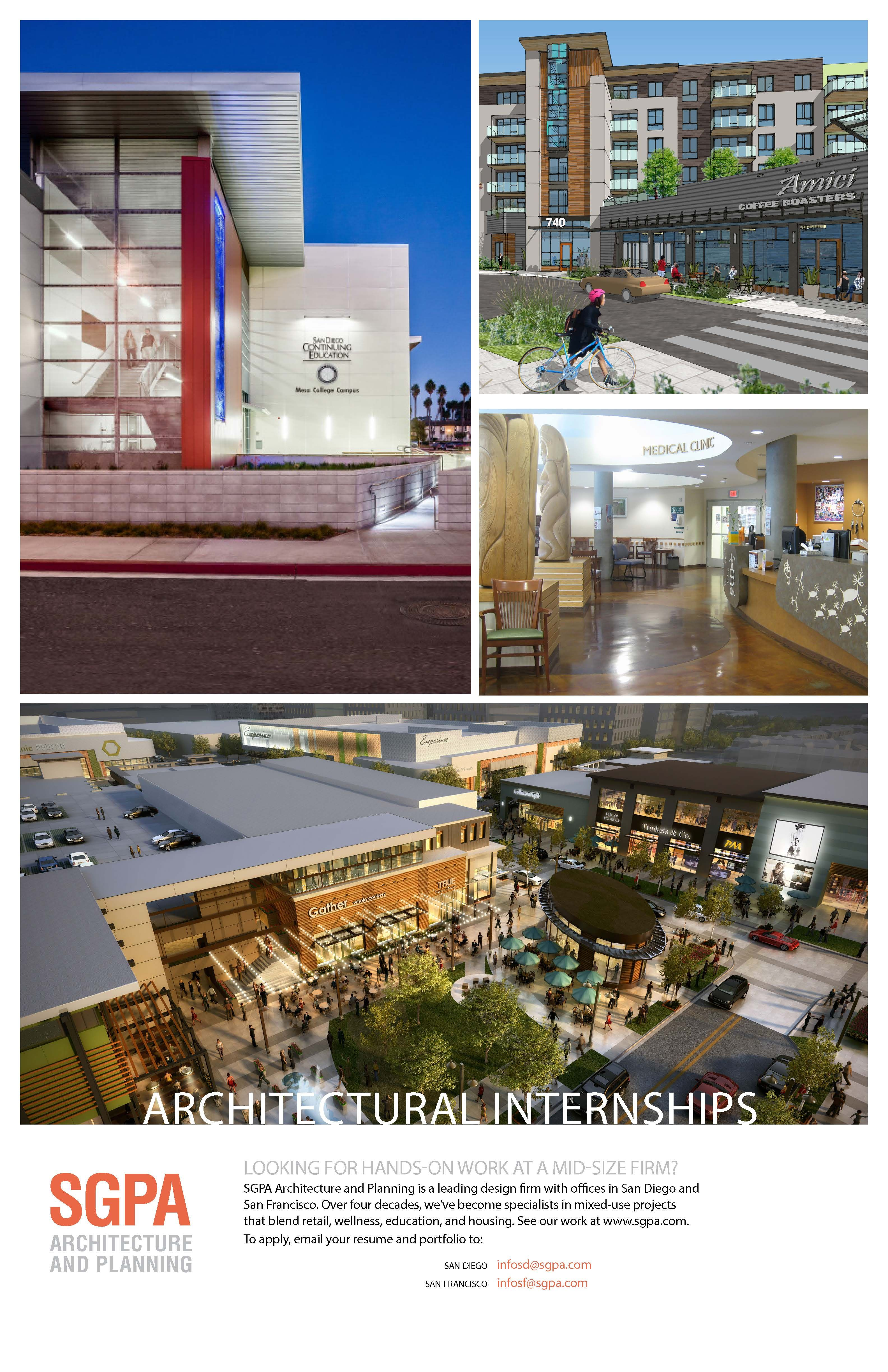 Architecture Architectural Internships With Sgpa