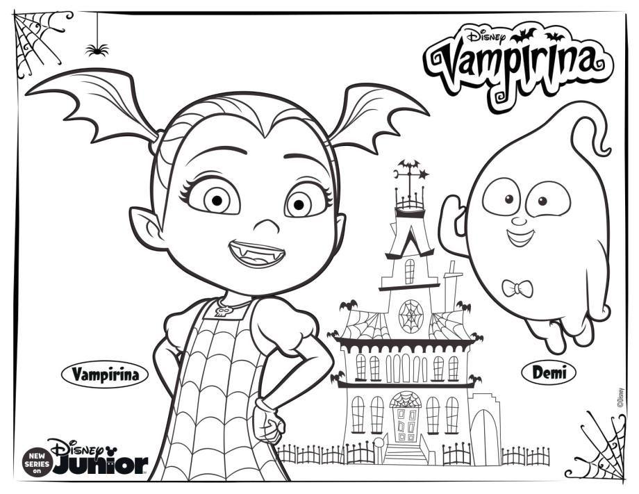 Vampirina Coloring Pages Di 2020 Disney Junior Disney Gambar