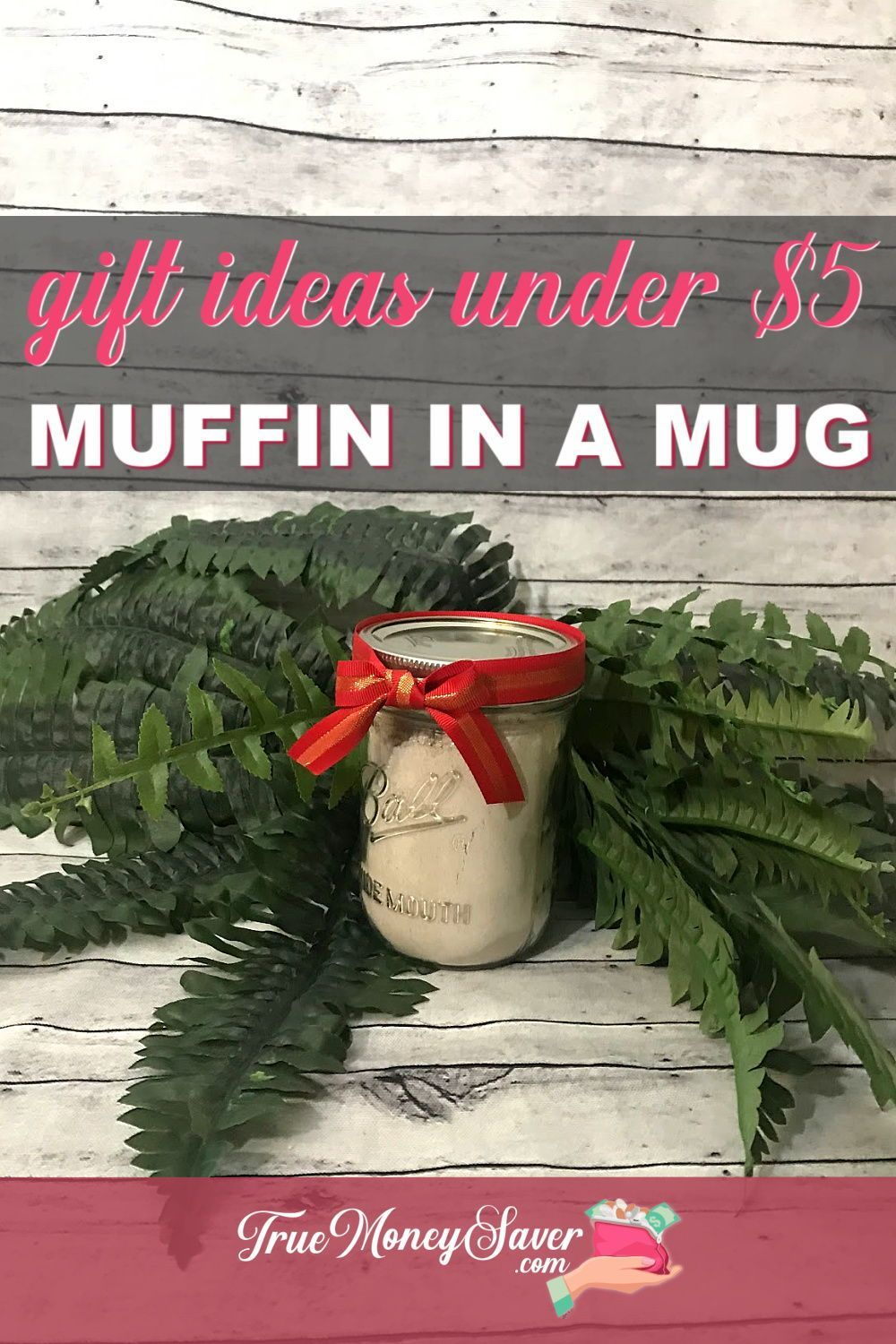 This is one SWEET #DIY! Check out these NEW 12 #gifts under $5! They are DIY gift ideas that everyone will love! Plus, these creative DIY #homemade gifts will help keep your budget in check! #truemoneysaver #christmas #gifts #makeyourowngifts #doityourselfgifts #craftedgifts #giftstomake   cheap gifts   cheap Christmas presents   cheap gift ideas   muffins in a mug   diy muffins   diy Christmas gifts   homemade gift   microwave muffin in a mug   homemade presents   muffin recipes  