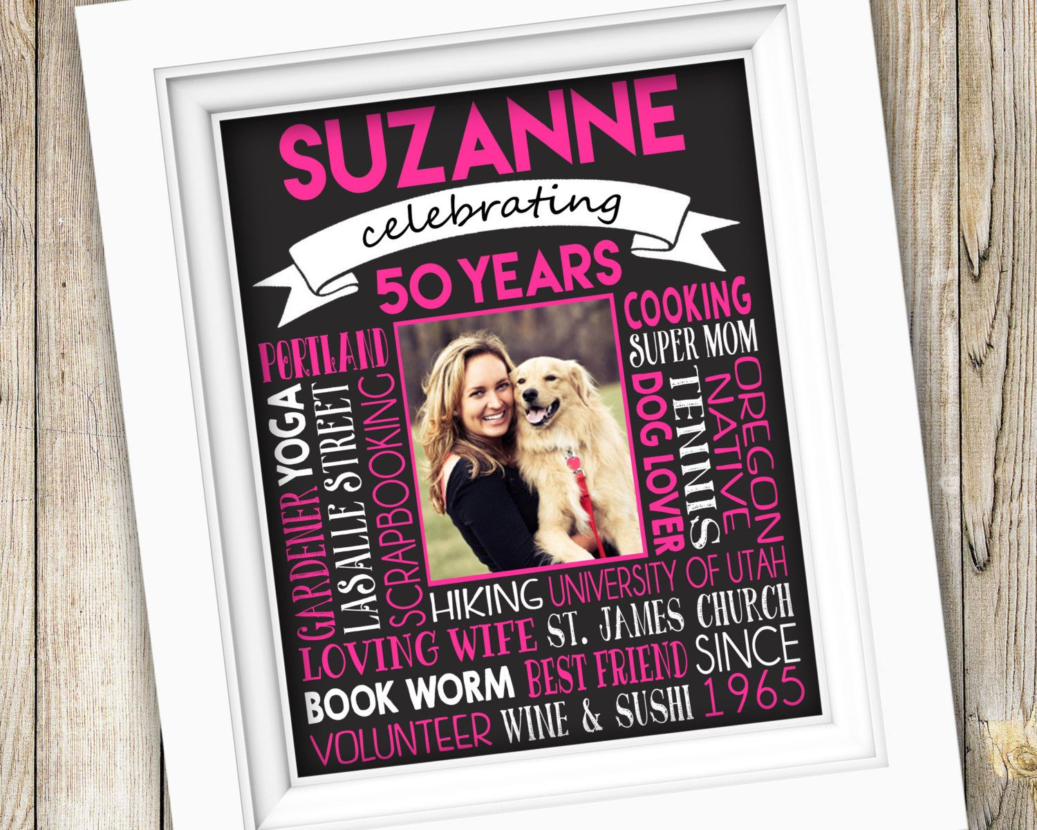 50th birthday gift printable 50th birthday party sign