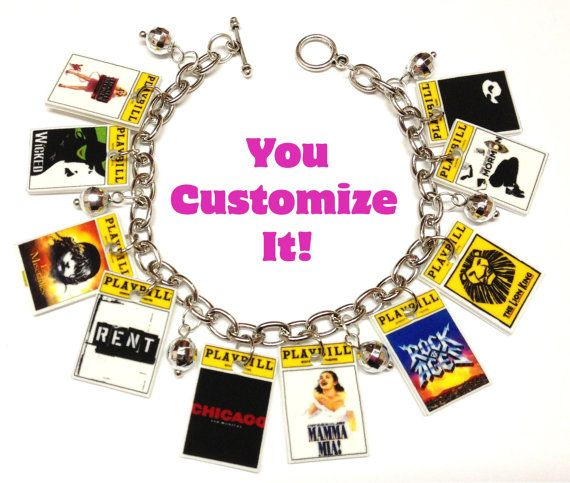 Customized Theatre Playbill Charm Bracelet By Karinamadethis 18 00