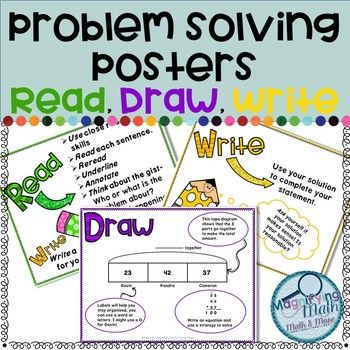 Word Problem Solving Strategy Posters Using Read Draw Wr Problem Solving Strategies Problem Solving Strategies Poster Solving Word Problems Strategies