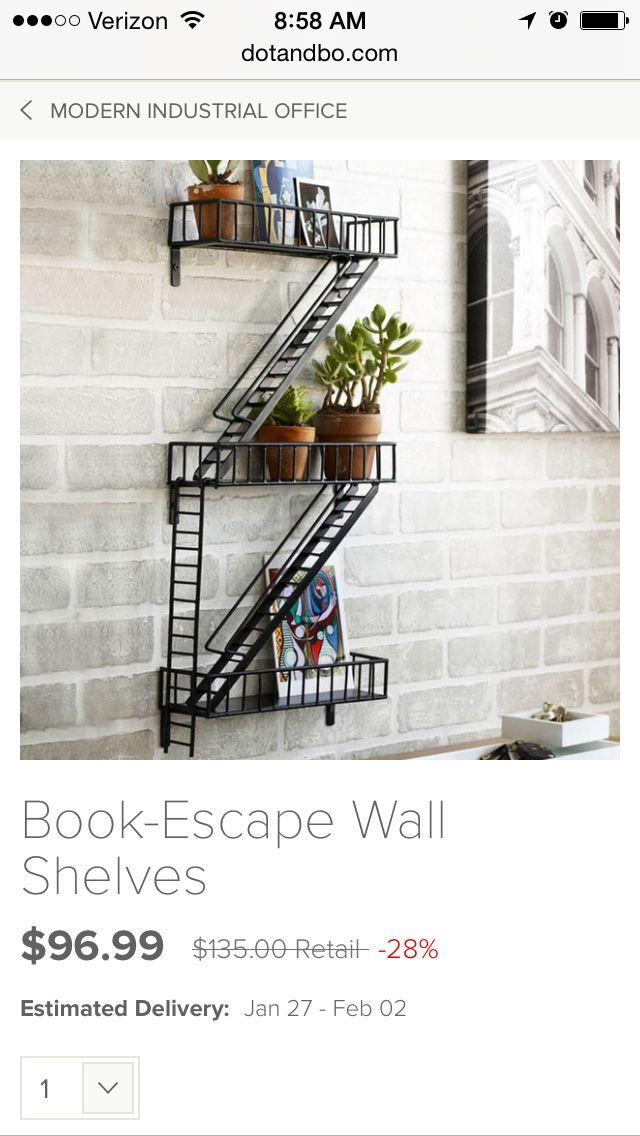 Dot And Bo Fire Escape Book Shelf Wall Shelf Decor Fire Escape Shelf Home Decor Online
