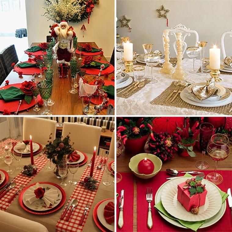 Pin de Elika Festas em Vitrine Elika Festas Mesa de natal, Decoraç u00e3o de natal e Decoraç u00e3o -> Decoração De Natal Para Mesa Quadrada