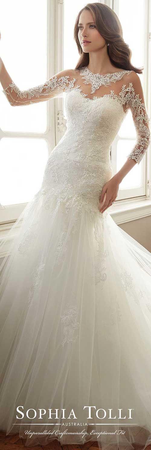 19.Uzun Kollu Gelinlik Modelleri   Wedding dresses   Pinterest ...