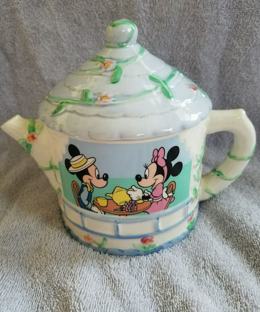 Mickey Minnie Mouse 4 Cup Teapot Perfect Condition Disney Tea Party Tea Pots Mickey Minnie Mouse Tea Party