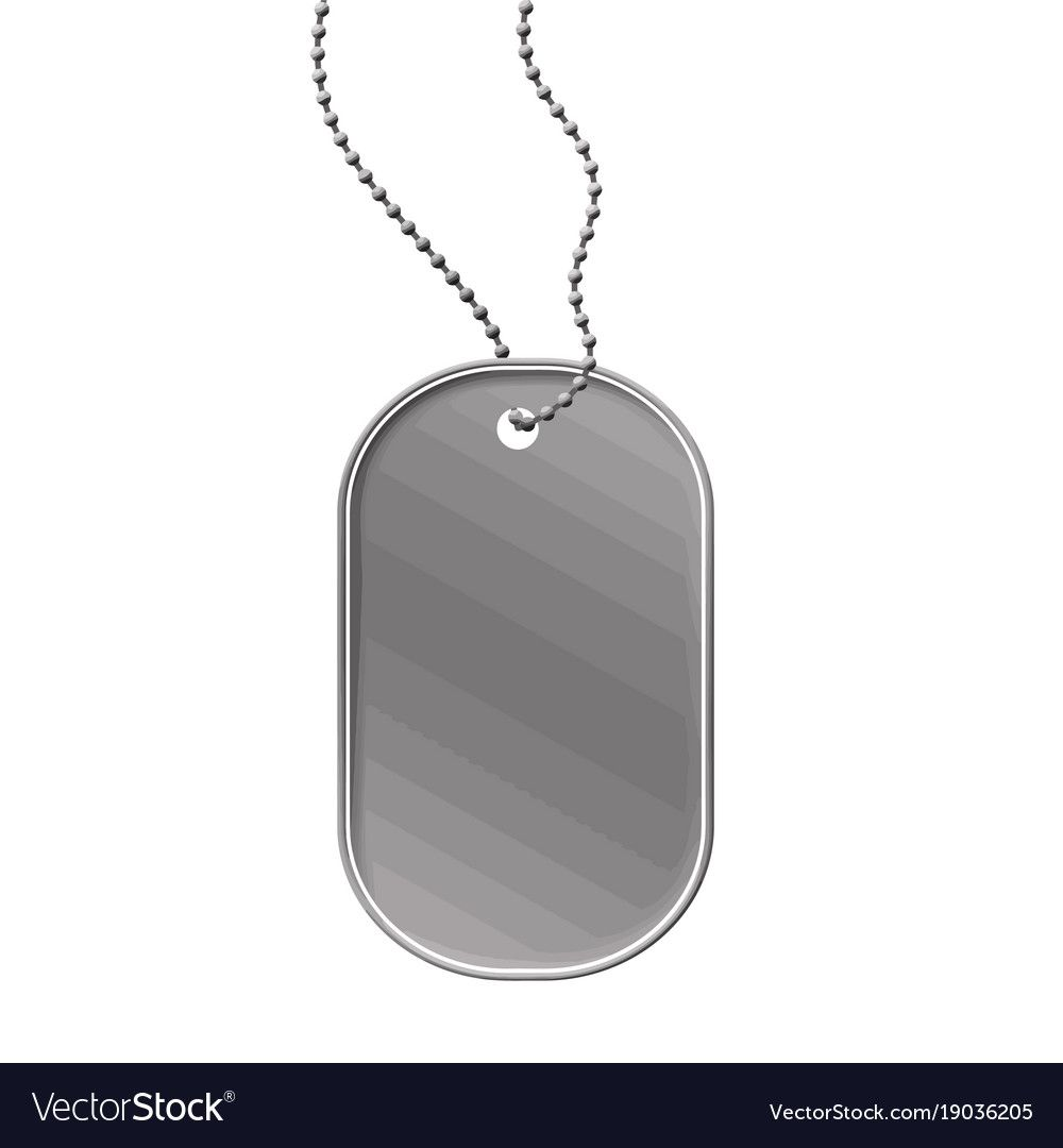 Military Dog Tag On White Background Vector Illustration Download A Free Preview Or High Quality Adobe Illustrator A Dog Tags Military Dog Tags Military Dogs