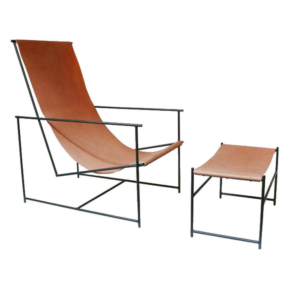 Prime Anderson Leather Sling Chair Ottoman Furniture Spiritservingveterans Wood Chair Design Ideas Spiritservingveteransorg