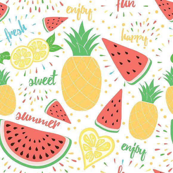 6 Tropical Fruits Templates Fruit Wallpaper Fruit Illustration Fruit Cartoon