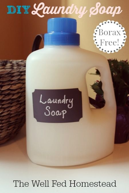 The Well Fed Homestead Borax Free Laundry Soap Laundry Soap