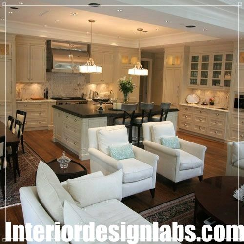 Brown And White Interior Design Living Room Kitchen Design Open Dining Room Combo Kitchen Family Rooms