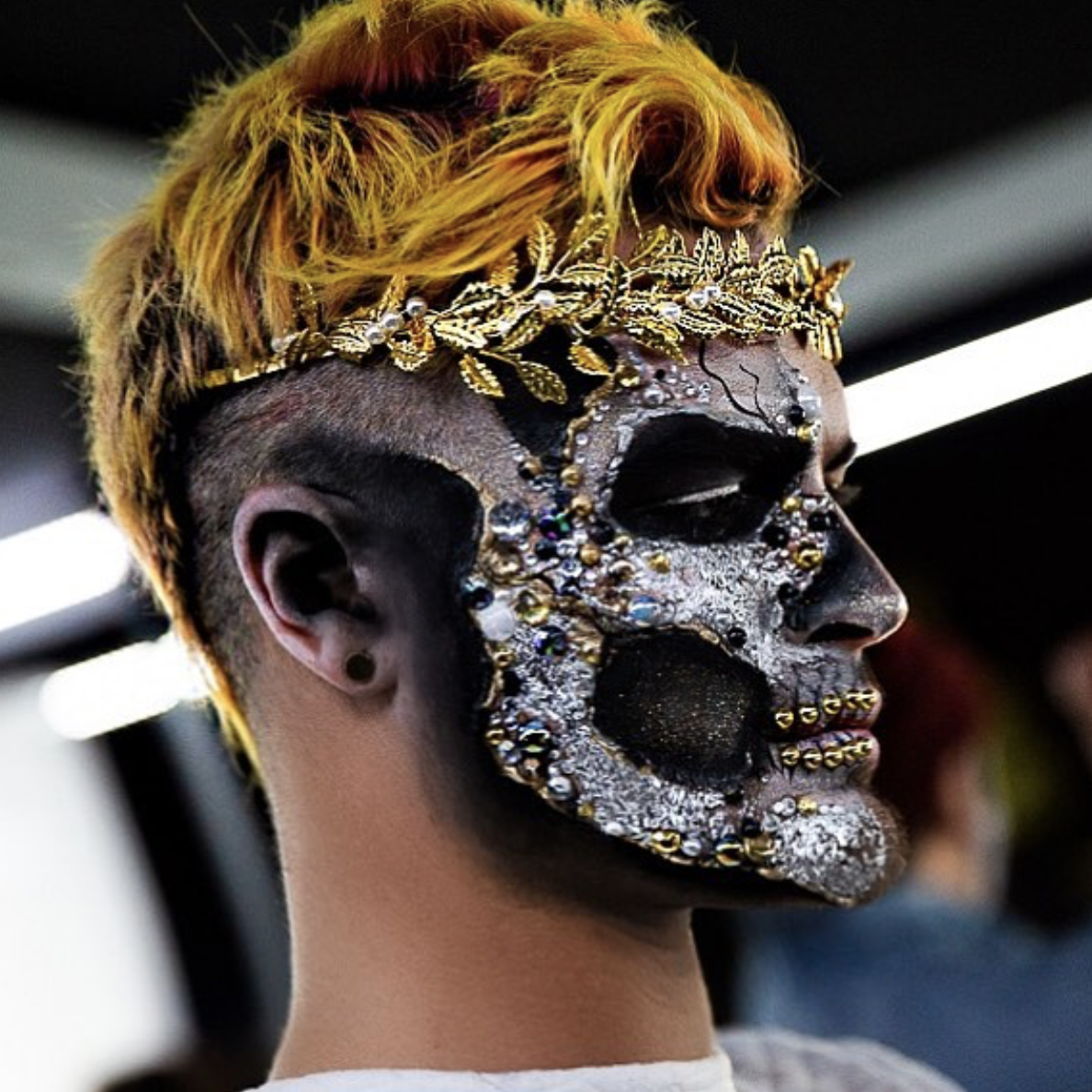 Diamond Skull alexfaction Beautiful halloween makeup