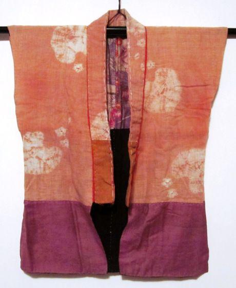 sodenashi shibori safflower dyed - front - Daily Japanese Textile IMG_1738