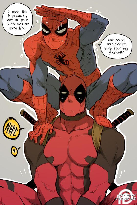 Pin By Hester Black On Deadpool Spideypool Spideypool Deadpool And Spiderman Deadpool X Spiderman