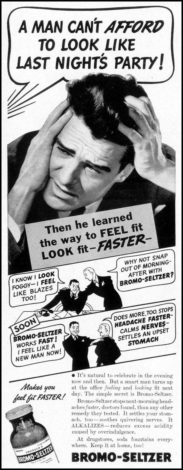 BROMO-SELTZER. LIFE, 08/02/1937.